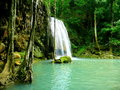 Waterfall a beautiful in erawan national park thailand Royalty Free Stock Image