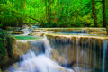 Waterfall beautiful erawan waterfall in kanchanaburi province asia southeast asia thailand Stock Images