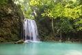 Waterfall beautiful erawan waterfall in kanchanaburi province asia southeast asia thailand Royalty Free Stock Images