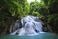 Waterfall beautiful huaymae kamin in kanchanaburi province asia southeast asia thailand Stock Photo