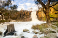 Waterfall beautiful nigretta falls in western victoria australia with high flow during winter time in time lapse Royalty Free Stock Photos