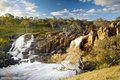 Waterfall beautiful nigretta falls in western victoria australia with high flow during winter time in time lapse Royalty Free Stock Photo