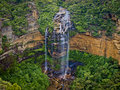 Waterfall in the Blue Mountains Stock Photos