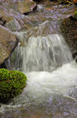 Waterfall on a brook small Royalty Free Stock Photos