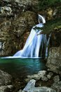 Waterfall called Reventon in Riopar Royalty Free Stock Photo