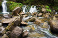 Waterfall in the carpathians ukraine Stock Images