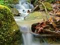 Waterfall Closeup Among Rocks ...