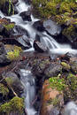 Waterfall in creek. Royalty Free Stock Image