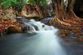Waterfall creek in summer forest in kanchanaburi thailand Stock Photography
