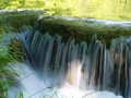 Waterfall in croatia nice the national park Stock Images