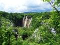 Waterfall in croatia nice the national park Stock Photos