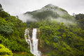 Waterfall in deep forest near nuwara eliya in sri lanka Stock Photography