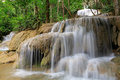 Waterfall in deep forest of thailand lampang Stock Photo