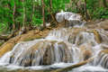 Waterfall in deep forest of thailand lampang Royalty Free Stock Image