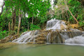 Waterfall in deep forest of thailand lampang Royalty Free Stock Images