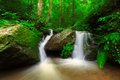 Waterfall in deep forest of thailand phayao Royalty Free Stock Photo