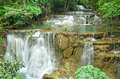 Waterfall in deep jungle paradise of thailand Stock Photography