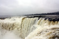 Waterfall devil s throat at iguazu argentina Stock Photography