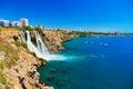 Waterfall Duden at Antalya, Turkey Royalty Free Stock Photo