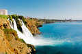Waterfall on duden river in antalya turkey Stock Photography