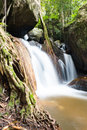 Waterfall in the forest at Mae Kampong, Chiang Mai, Thailand Royalty Free Stock Photo