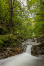 Waterfall in the forest picture with a small Stock Photography