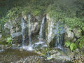 Waterfall garden in a park somwhere in ireland Stock Photo