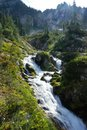 Waterfall in the Gifford Pinchot Wilderness Royalty Free Stock Photo