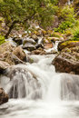 Waterfall in glen coe valley beautiful stream and the highlands of scotland Royalty Free Stock Image
