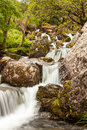 Waterfall in glen coe valley beautiful stream and the highlands of scotland Stock Photo