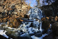 Waterfall Gorbatiy in november, Primorskiy kray, Russia Royalty Free Stock Photo