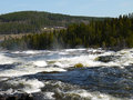 Fast flowing river with rapids
