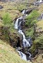 Waterfall grisedale english lake district cumbria view of a series of waterfalls cascading down the hillside near the top of the Royalty Free Stock Image