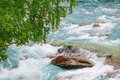 Waterfall gudbrandsjuvet beautiful in norway Royalty Free Stock Images