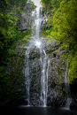 Waterfall in Hawaii Royalty Free Stock Photo