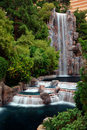 Waterfall and Horticulture, Las Vegas Royalty Free Stock Photography