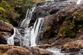 Waterfall in horton plains national park sri lanka wild Stock Photos
