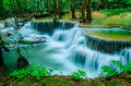 Waterfall huay mae khamin thailand is so beautiful of in national park kanchanaburi Stock Photos