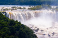 Waterfall iguassu falls brazil is the largest series of waterfalls on the planet located in argentina and paraguay Stock Image