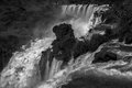 Waterfall iguazu detail misiones republica argentina Stock Images