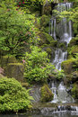 Waterfall at Japanese Garden 2 Royalty Free Stock Photos