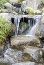 Waterfall in Japanese garden Royalty Free Stock Photo