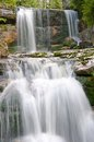 Waterfall jedlove czech republic on the river jedlova in jizerske hory northern bohemia Stock Photo