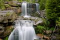 Waterfall jedlove czech republic on the river jedlova in jizerske hory northern bohemia Stock Photography
