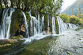 A waterfall in the jiuzhaigou natural scenic spots of it is world of water which brings its most enchanting views Royalty Free Stock Image