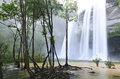 Waterfall in the jungle at national park thailand Royalty Free Stock Photos