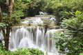 Waterfall in Kanchanaburi Royalty Free Stock Images