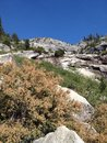 Steep mountain in Kings Canyon National Park Royalty Free Stock Photo