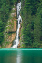 Waterfall on Konigsee lake Stock Photos