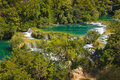 Waterfall KRKA in Croatia Royalty Free Stock Photography